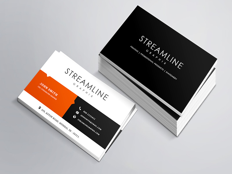 Free Glassy Business card Template