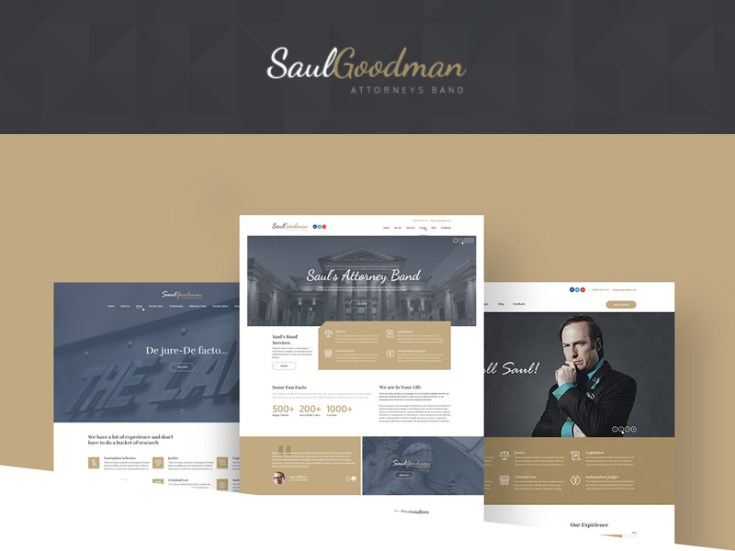 Free Lawyer PSD Template