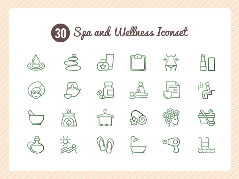 Free Spa Icon Set PSD