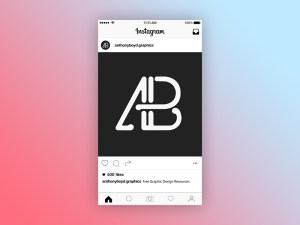 Free Instagram Post Mockup