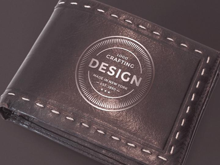 Leather Wallet Mockup PSD
