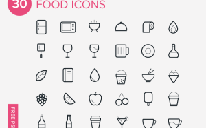 Line Food Icon