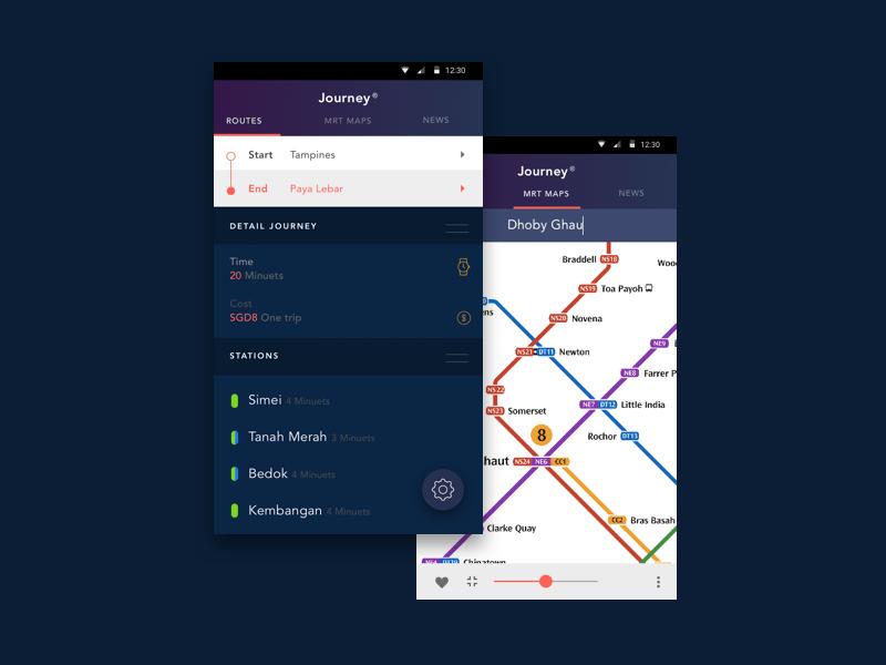 MRT App UI Design