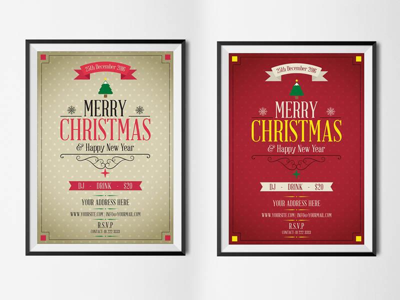 Merry Christmas Flyer PSD Template