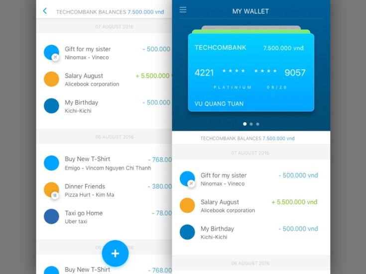 my wallet app ui design