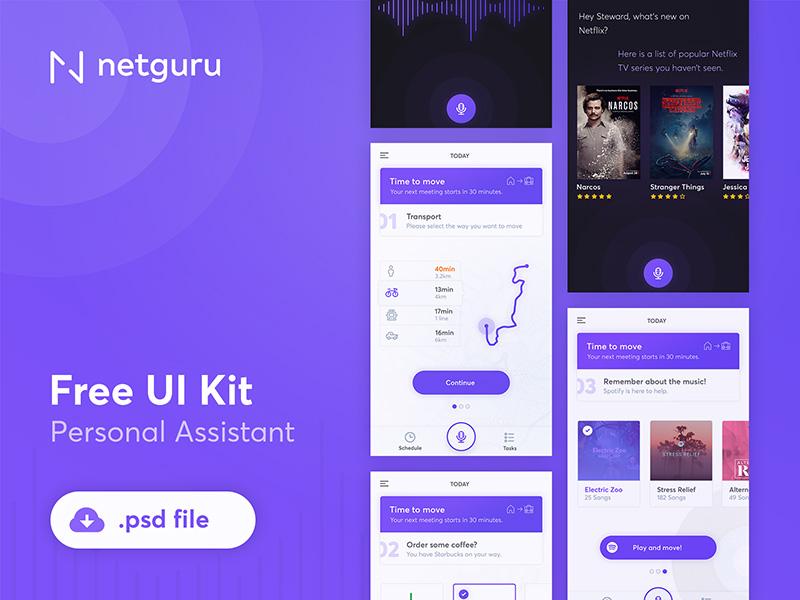 Personal Assistant App UI Kit