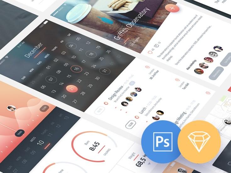 Phoenix Mobile UI Kit PSD Sketch