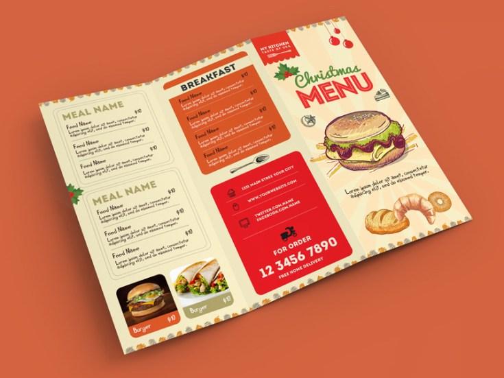 Retro Restaurant Food Menu Template