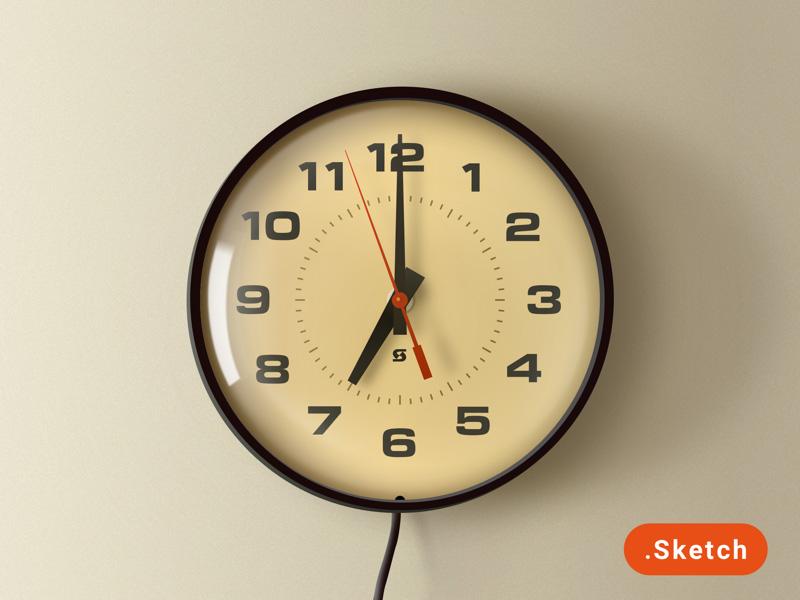 Retro School Wall Clock