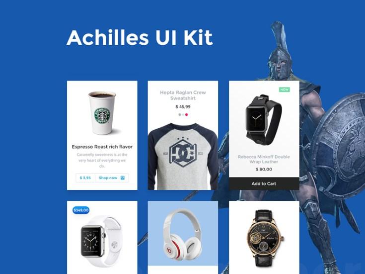 Free Achilles UI Kit PSD
