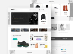 Beige : Fashion Ecommerce PSD Template