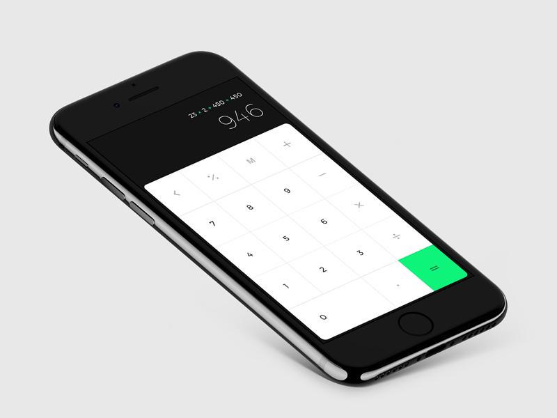 iOS Calculator UI Design