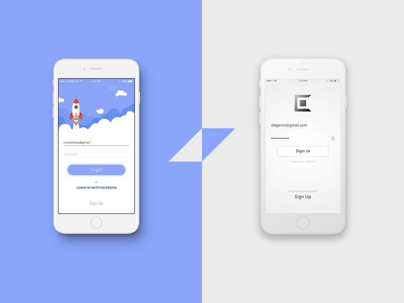 Mobile Login Screen UI