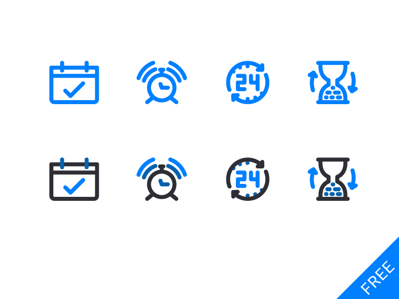 Free Vector Time Icons