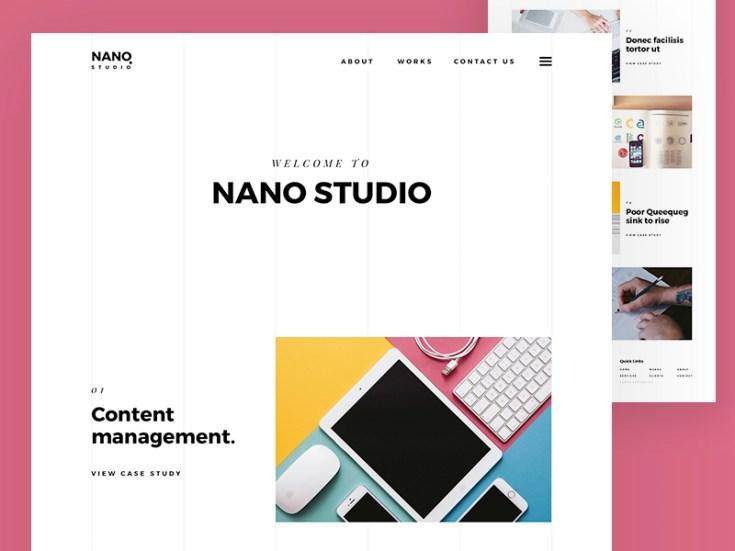 Free Agency Sketch Website Template
