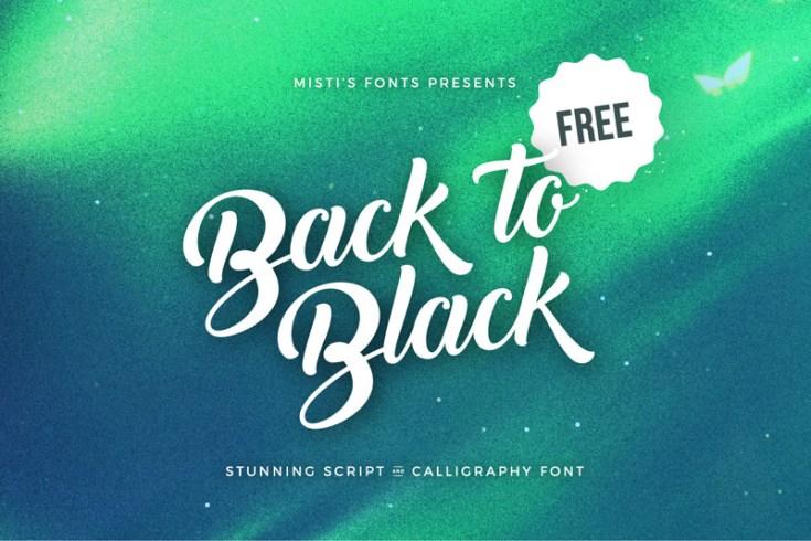 Free Back to Black Font