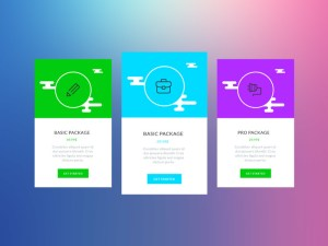 Colorful Pricing Tables Template