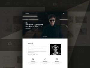 Free Creative Portfolio Landing Page