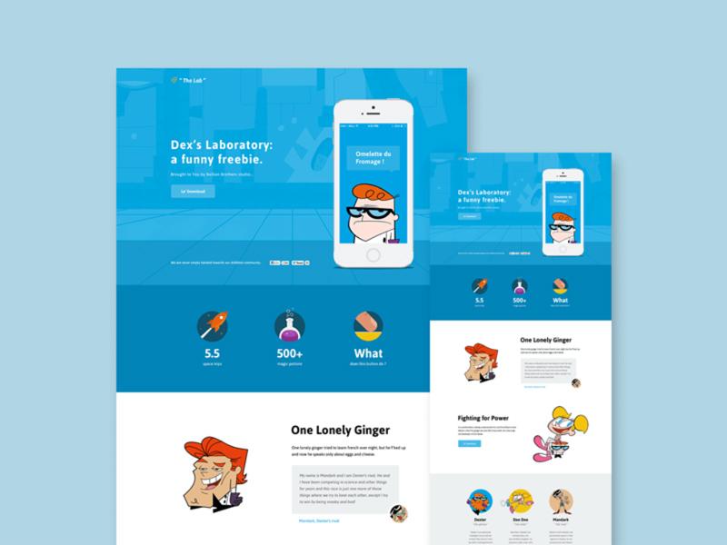 Dexter's lab PSD Website Template