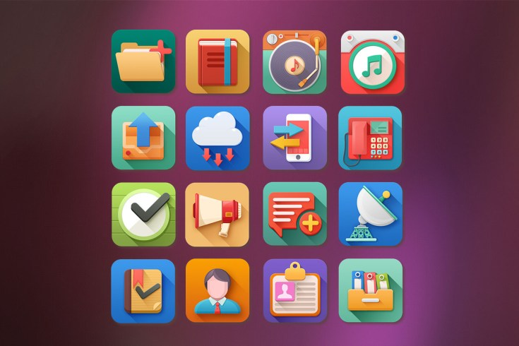 Free 3D Flat Style Icons