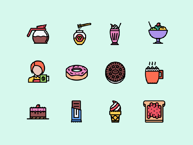 Free Colored Cafe Icons