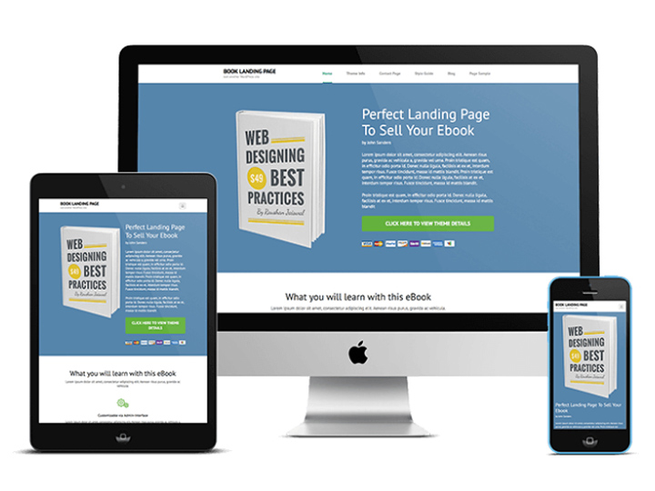 Free Ebook Landing page Wordpress Theme