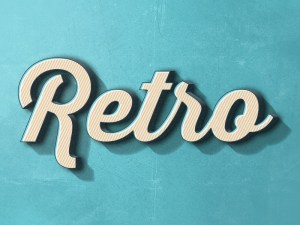 Free Fun Retro Text Effect