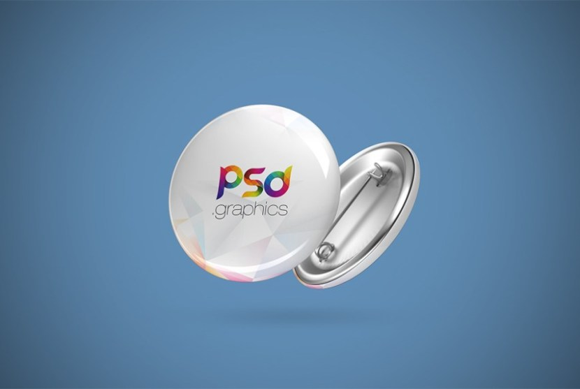 Free Pin Button Mockup PSD