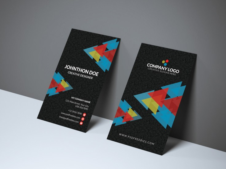 Free Geometric Business Card Template
