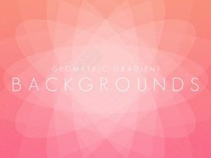 Free Geometric Gradient Background Set