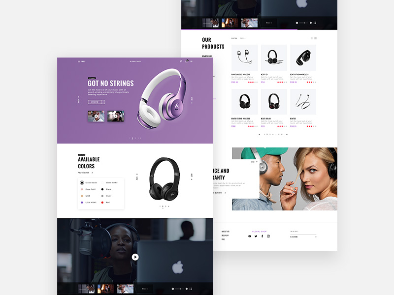 Global Store : Free Ecommerce PSD UI Kit