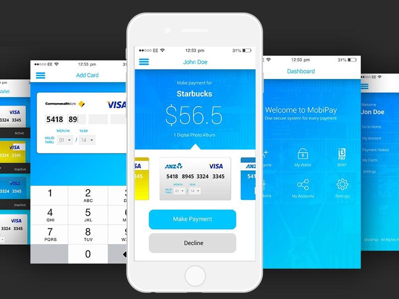 Mobile Payment UI Kit PSD