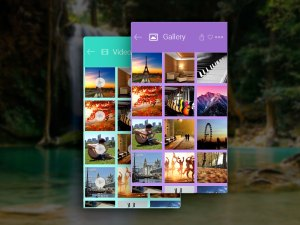 Free Photo Gallery App UI PSD