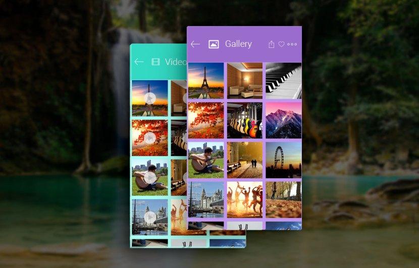 Photo Gallery App UI PSD