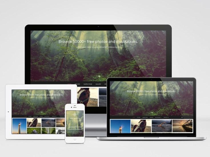 Free Responsive Photography Wordpress Theme
