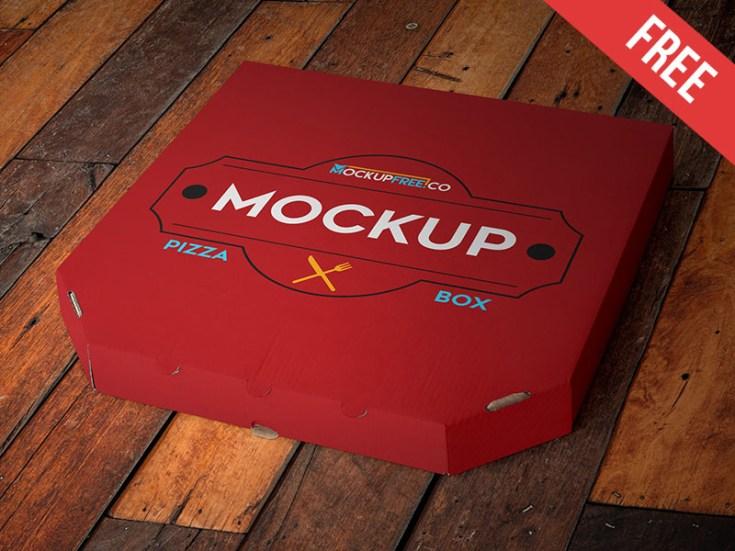 Free Pizza Box Mockup PSD