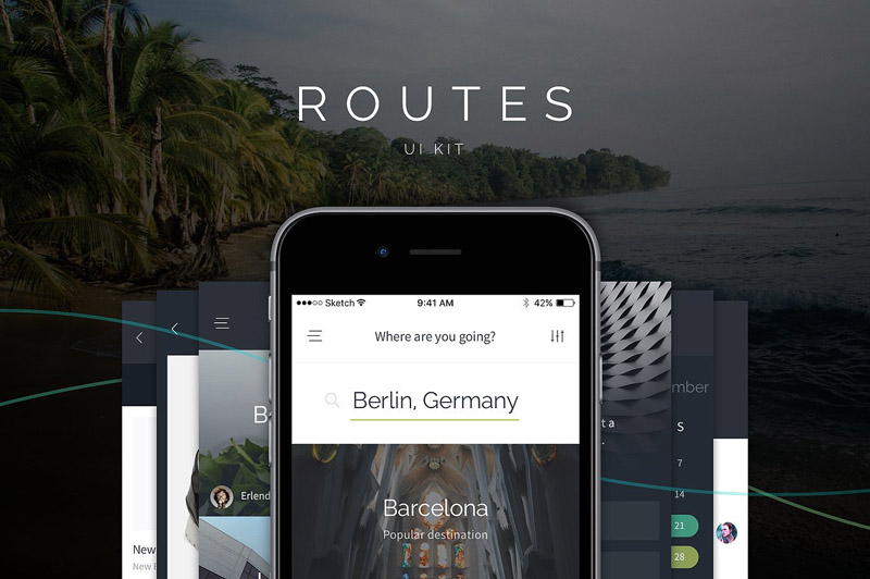 Routes Mobile UI Kit