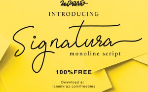 Signatura Monoline Free Font