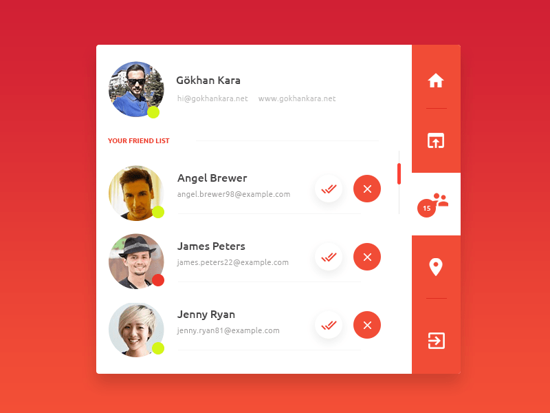 Simple Profile Box UI Design