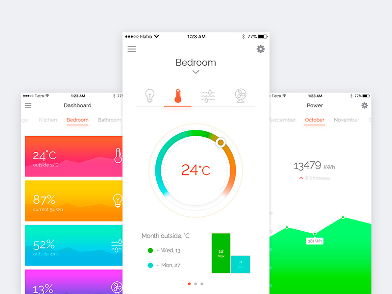 Smart Home Application UI Design