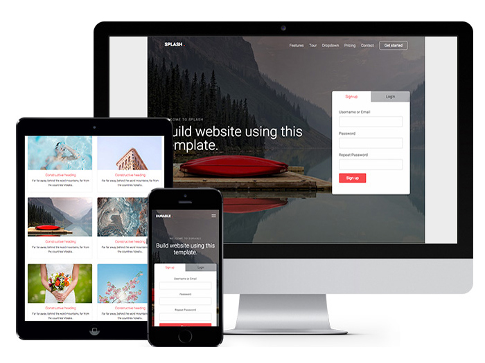 Splash : Free Multipurpose Bootstrap HTML5 Template