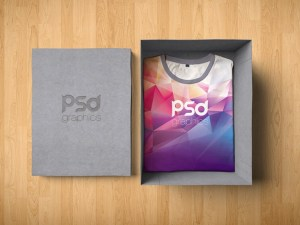 Free T-Shirt Packaging Mockup PSD