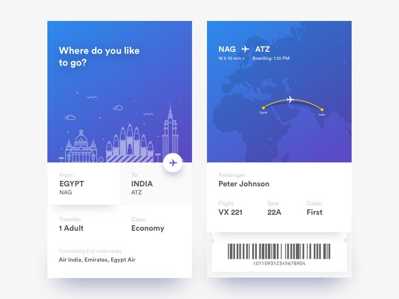 Ticket App UI Design
