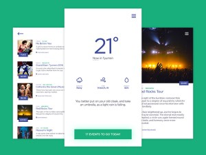 Free Weather & Events App UI
