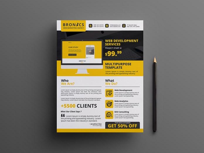 Web Development Flyer Template - Free Download   Freebiesjedi