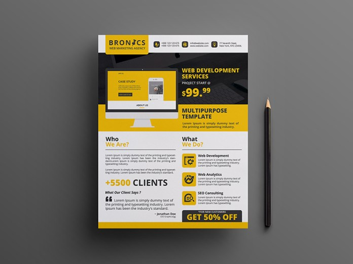 Web Flyer Template  Resume Template Sample