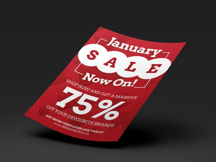 Freee January Sale Flyer Template