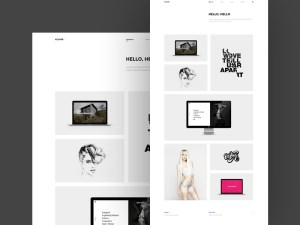 Holver : Simple Portfolio PSD Template
