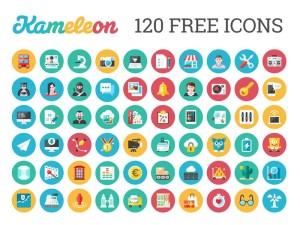 120 Free Flat Style Icons