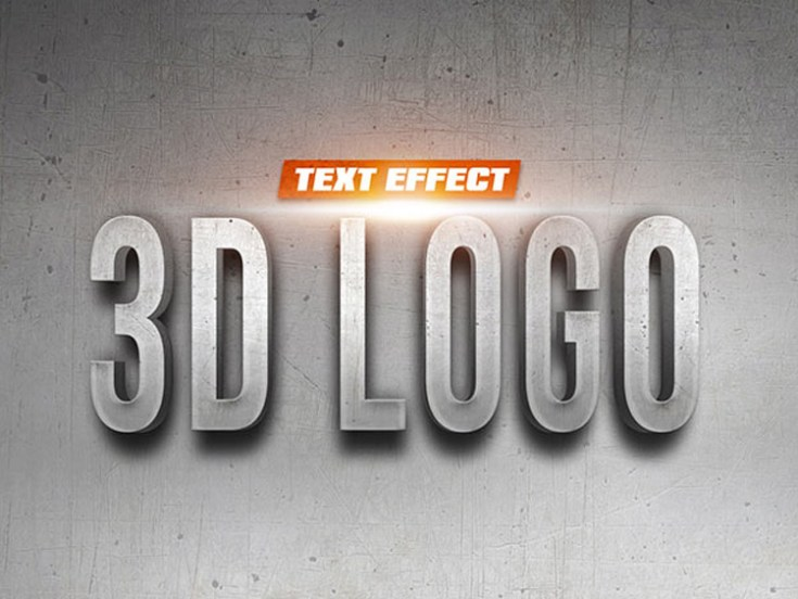 Free 3D Logo Text Effect PSD